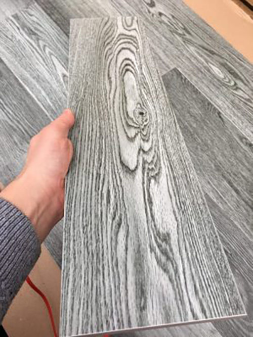 Плитка на пол серая под паркет текстура дерева Lima GR Лима