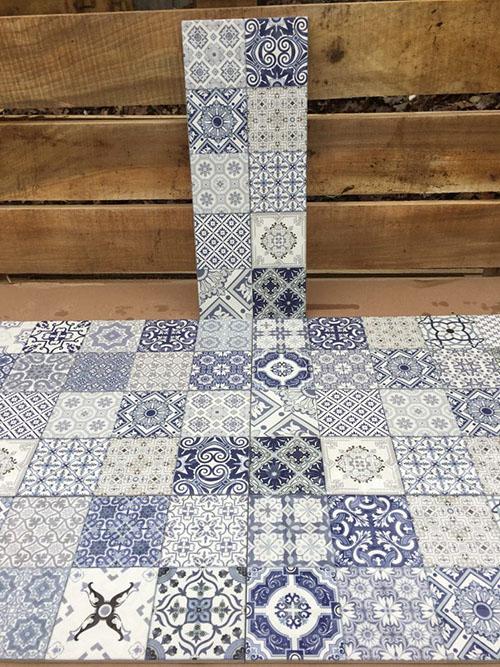 Плитка синяя Атем