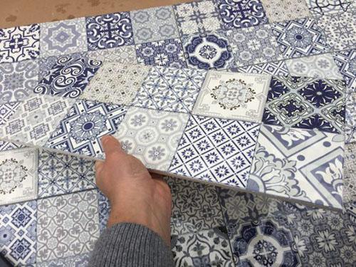 Izmir Измир sote BL пэчворк плитка на стену синяя фото