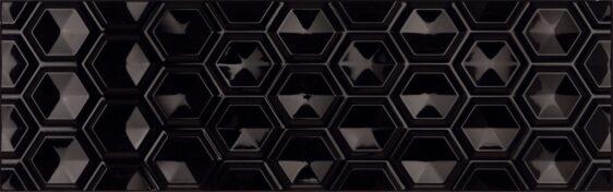 Плитка (25х80) OLDEN HEXAGON NEGRO BRILLO